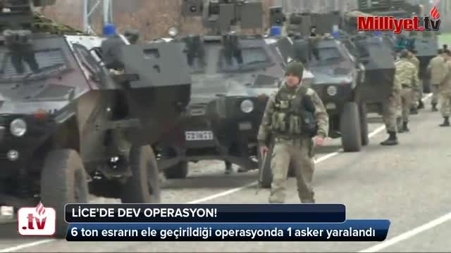 Lice'de asker, polis ve MİT'ten dev operasyon!