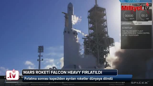 Space-X in mars roketi Falcon Heavy fırlatıldı